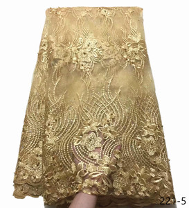 Image 5 - האחרון רויאל בלו טול תחרה בד באיכות גבוהה אירופה ואמריקאי אופנה בד עם חרוזים אבן צרפתית תחרה בדים 221