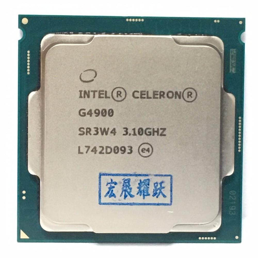 Intel PC Desktop computer Pentium Processor G4900 3.1G 512KB 2MB CPU LGA 1151 land FC LGA 14 nanometers Dual Core CPU