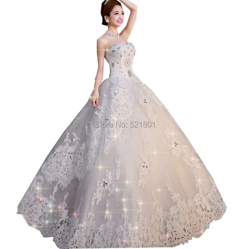 e6ede5387c9 Sexy Wedding Dress 2015 Lace Plus Size Crystal Princess Long Wedding Dresses  Custom Vestidos De Novia Bridal Gowns Beading ABC03