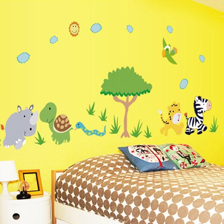 √MARUOXUAN Hot Style Fashion Cartoon Animals Children Room Wall ...