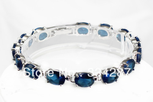 fast shipping Fine Jewelry Blue Crystal Bracelet