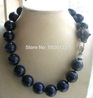 Lapis lazuli blau 18mm 20mm leopard verschluss halskette 18