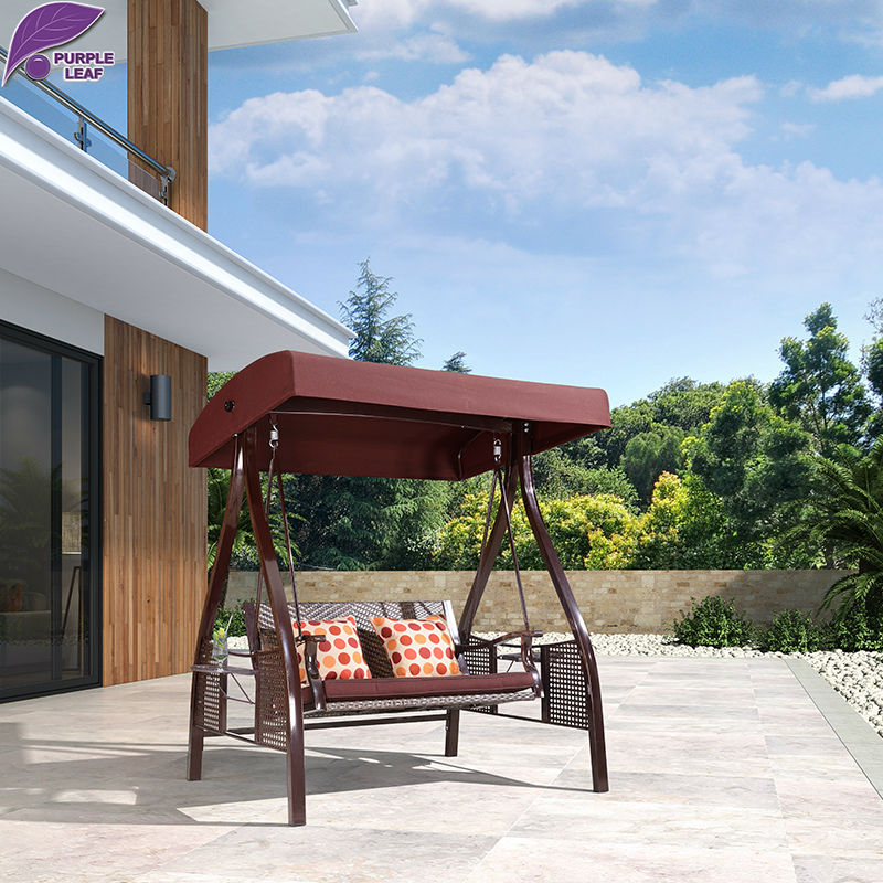 PURPLE LEAF Outdoor Swing Chairs For Garden Furniture High Quality With Cushion And Pillow