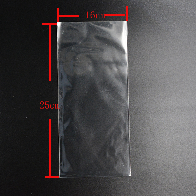 Pouches 16cm*25cm Pouches Clear Cellophane/BOPP/Poly Bags Transparent Opp Bag Packing Plastic Bags No Self Adhesive Seal