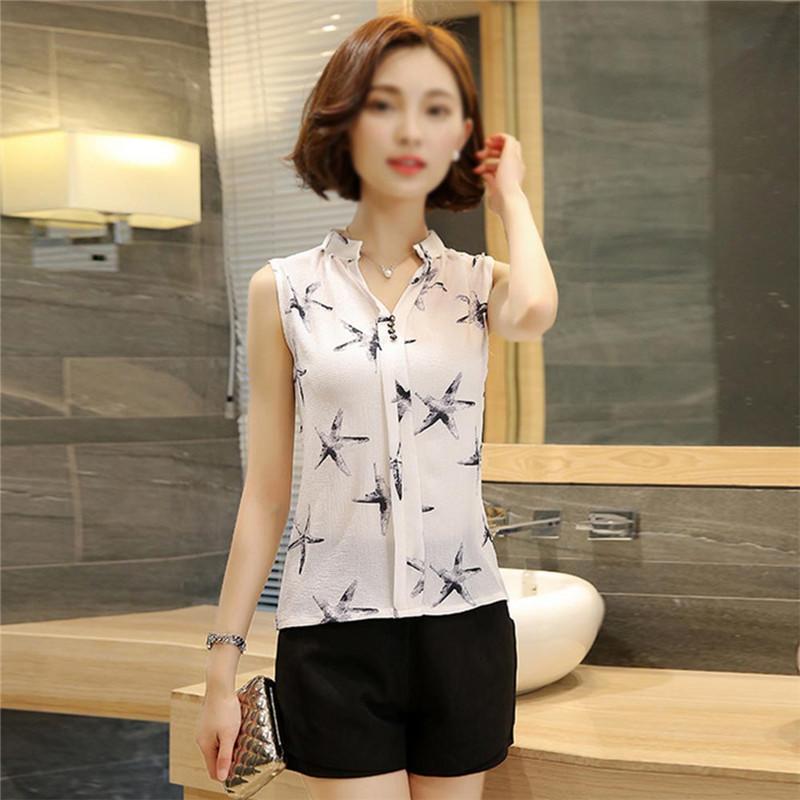 HTB1nSeTQVXXXXXjaXXXq6xXFXXXE - Sleeveless Chiffon Office Shirts Blusa Womens 3XL Plus Size Tunic