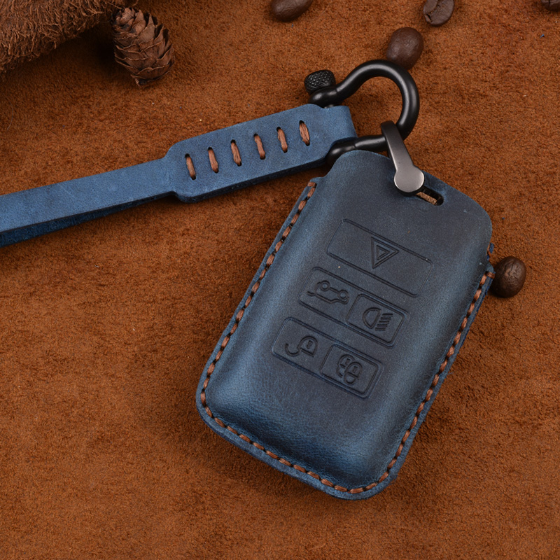 Car styling accessories 1pcs For Jaguar E PACE I PACE 2018 19 luxury Leather Key Bag Case Keyholder Key Chain-in Key Case for Car from Automobiles & Motorcycles    3