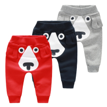 YiErYing  Newborn Trousers Pure Colour Cartoon Children Baby Clothes Pants Spring Lovely Leisure