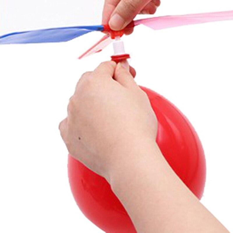 10 Teile/los Kinder Im Freien Spielen Kreative Lustige Spielzeug Spielzeug Bälle Luftballons Hubschrauber Fliegen Mit Pfeife Propeller Kid Spielzeug Weich Und Rutschhemmend