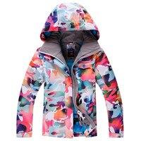 Woman Camouflage Snow Jackets 10K Waterproof Windproof High Quality Snowboarding Jacket Winter Skiing Jacket Outdoor Coats
