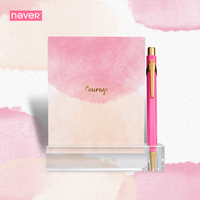 Never Watercolor Collection Cards Set Desktop Calendar Schedule Post It Memo Pad Trend Creative Gift Office