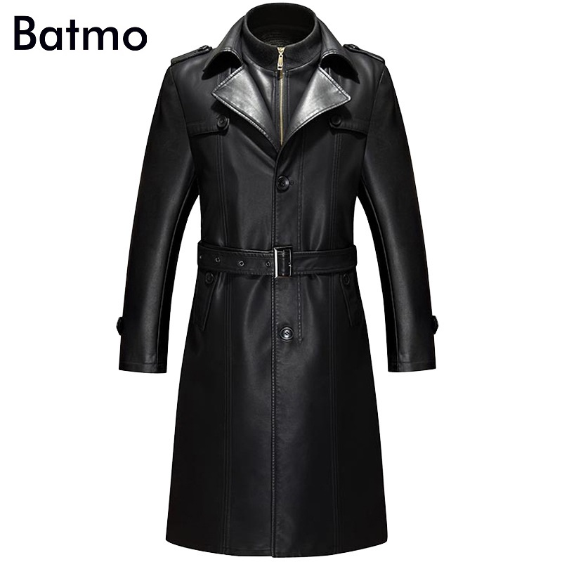 Batmo 2019 new arrival winter high quality real leather casual Cotton Liner coat men plus size Batmo 2019 new arrival winter high quality real leather casual Cotton Liner coat men,plus-size S-4XL