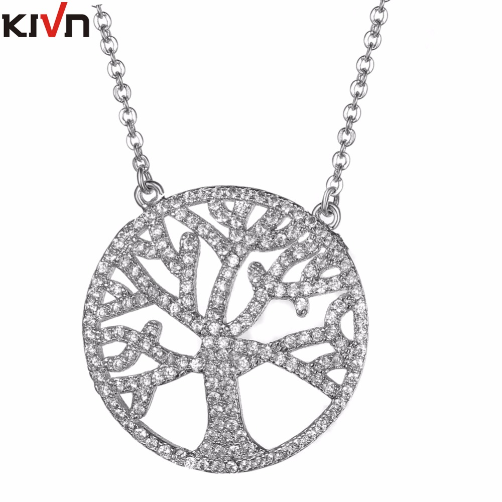 KIVN Fashion Jewelry Celtic Family Life Tree Pave CZ Cubic ...