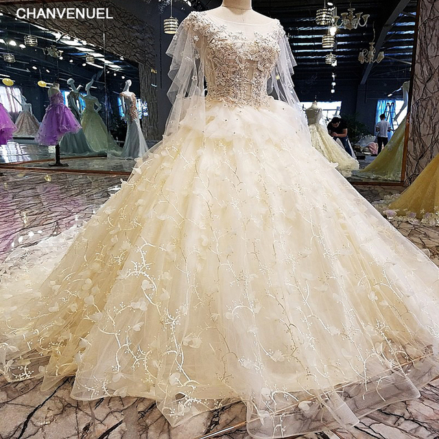 LS00116 Luxury wedding dress for bridal beading ball gown short ...