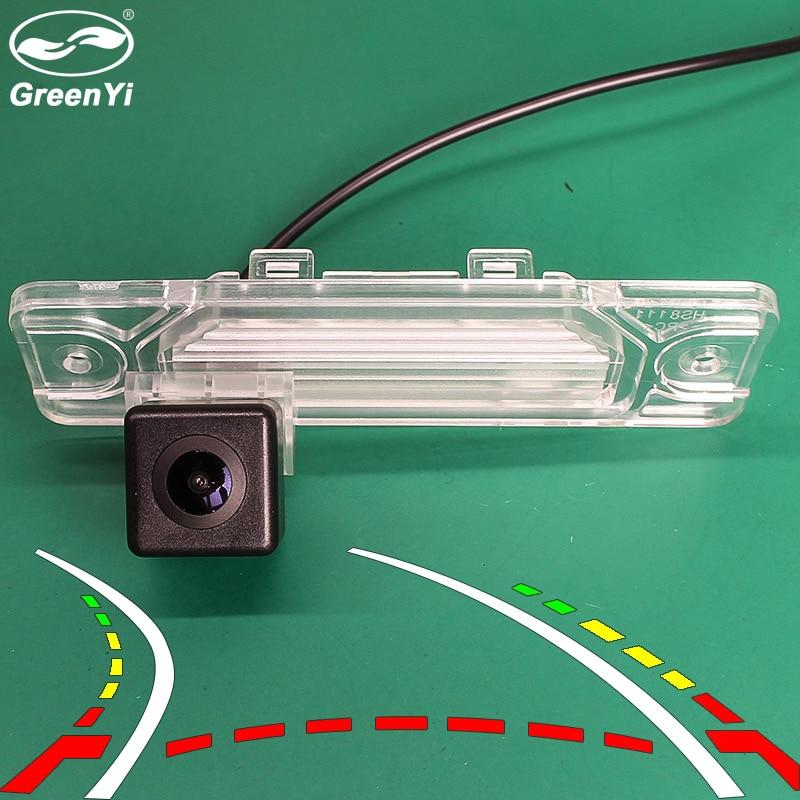170 Degre Fisheye Lens Dynamic Trajectory Parking Line Car Rear View Reverse Backup Camera For Renault Koleos 2009-2014