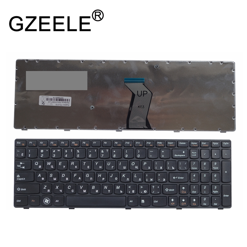 GZEELE New For Lenovo Y570 Y570n Y570i7 Y570 Y570D Russian Laptop Keyboard RU Version Brand New Replace Keyboards Black Frame