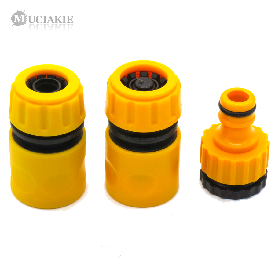 MUCIAKIE 3PCS Coupling Adapter Drip Garden Water Connector
