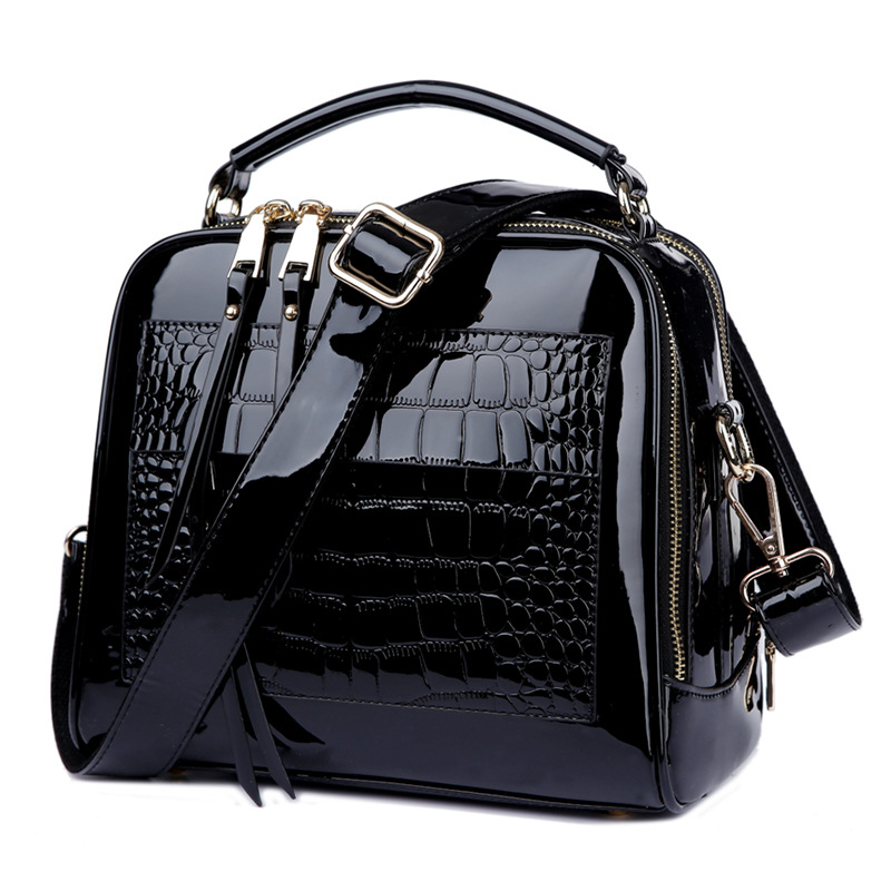 Fashion Patent leather handbag women black bag ladies tote bag womens Messenger bag woman shoulder crossbody bags bolsa feminina