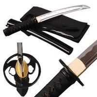Brandon Swords High Carbon Steel Blade Sword Full Tang Samurai Sword Fully Handmade Sharp Edge Japanese Tanto Short Knife