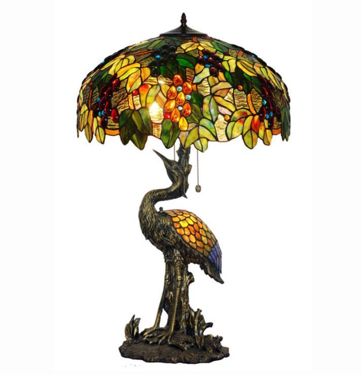 Lampe d'oiseau en verre teinté de luxe lampe de Table de bureau haute lumière Art décor salon bureau Bar comptoir hôtel café décoratif