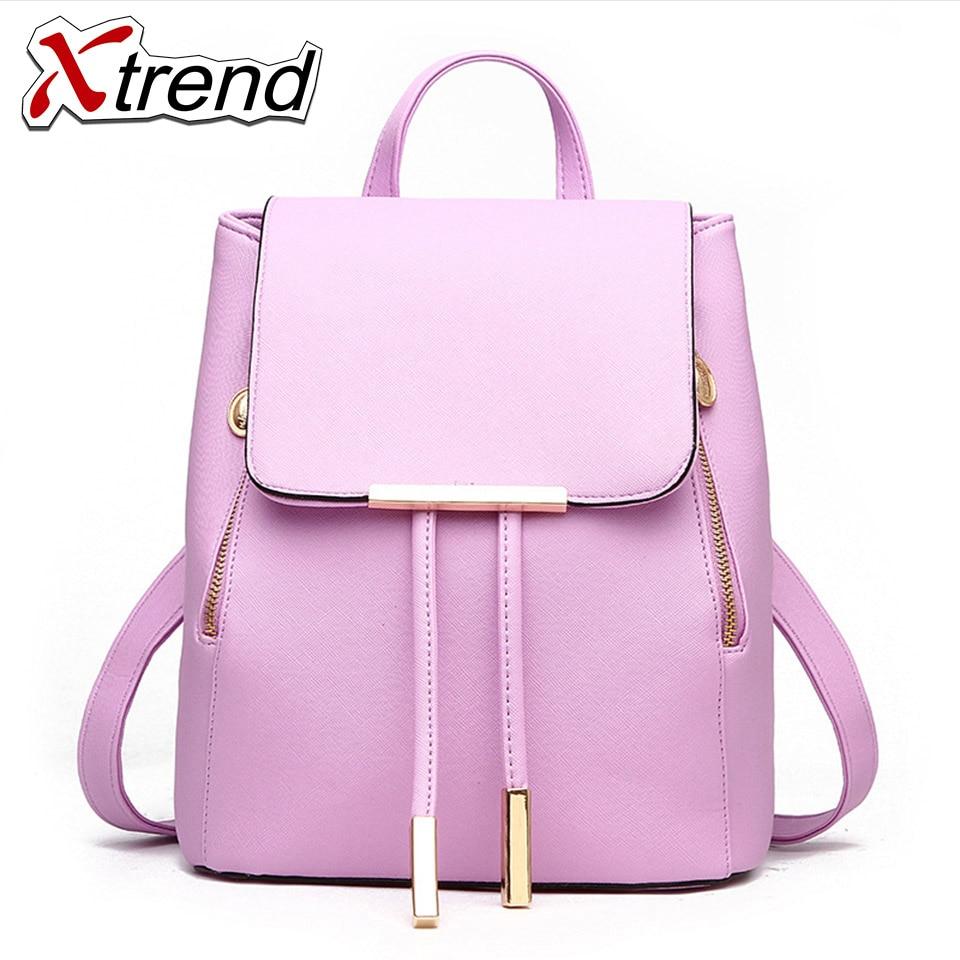 Xtrend Backpack Women Leather Backpacks High Quality Pu Bagpack Mochila Feminina Rucksack Female School Bags