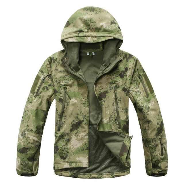 ブランドジャケット V5.0 軍事戦術男性ジャケットルルカーシャークスキンソフトシェル防水防風男性軍フリースジャケットコート