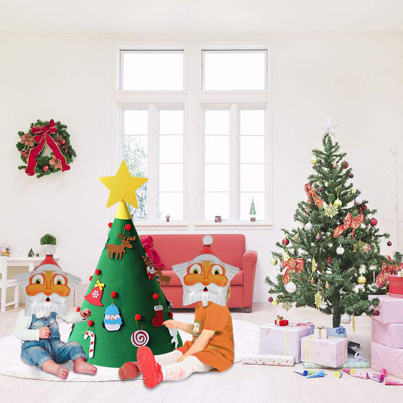 Image De Noel 3d.Us 0 99 Noel 3d Felt Christmas Tree Navidad 2019 New Year Gift For Kids Santa Claus Snowflake Ornaments Christmas Decorations For Home In Trees From