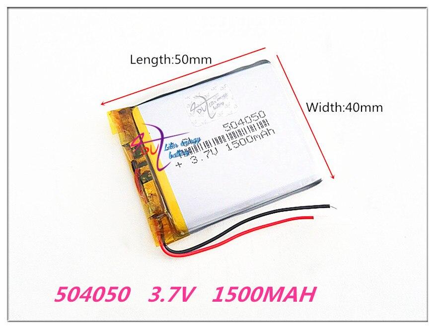 504050 3.7 V 1500 MAH Lithium Polymère LiPo Rechargeable Batterie Pour Mp3 DVD PAD mobile tablet pc puissance banque Caméra