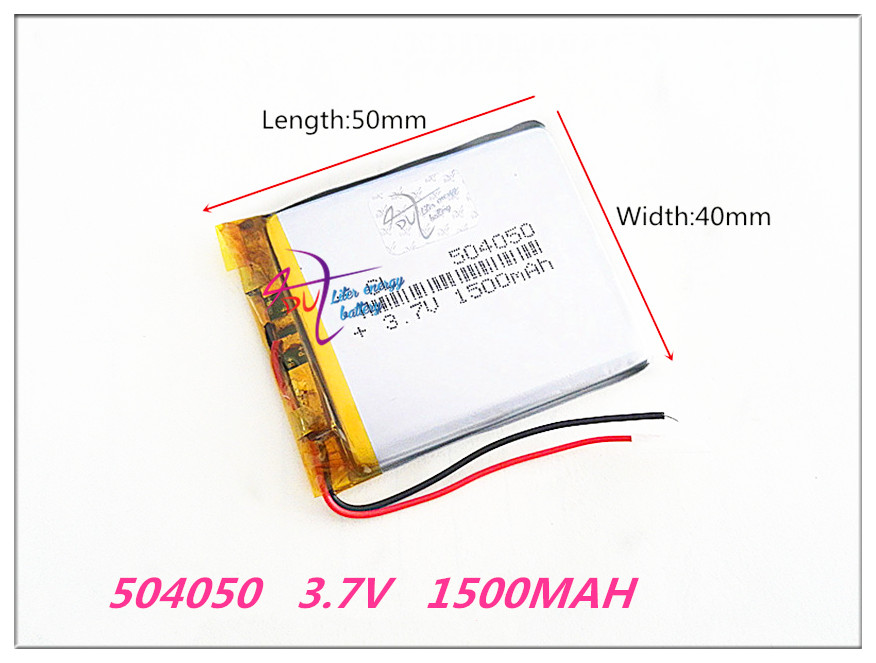 504050 3.7V 1500MAH Lithium Polymer LiPo Rechargeable Battery For Mp3 DVD PAD mobile tablet pc power bank Camera