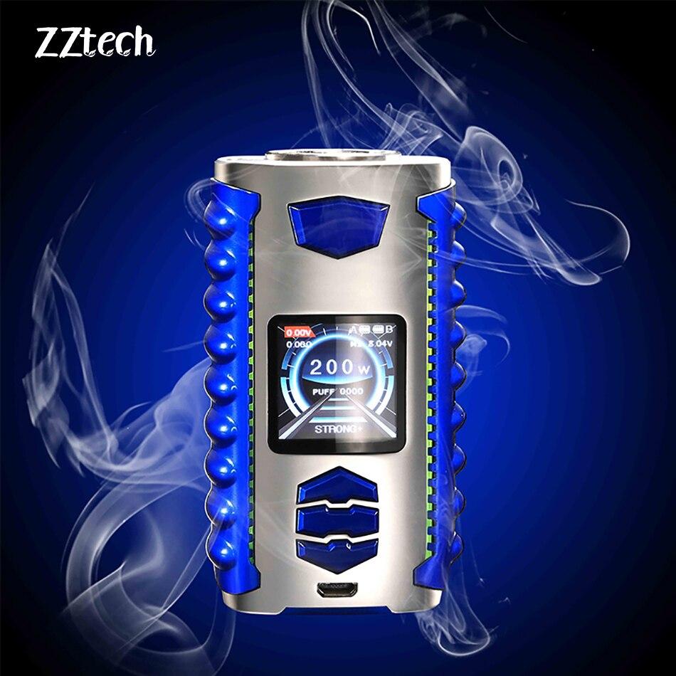 Original Nouveau VEGA 200 w Mod 18650 Batterie E Cigarette 6 Couleurs avec plus facile Chargeur pour 510 Fil Atomiseurs Vaporisateur kit Vaporisateur