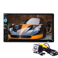 2 DIN Car Radio Player HD auto Rear View Camera Bluetooth FM MP3 MP4 MP5 Audio Video USB Auto Electronics autoradio
