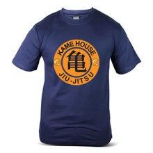 цена на 7311-NV Dragon Ball Z Goku Master Roshi Kame House Navy Blue Mens Tee T-Shirt Free shipping