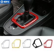 MOPAI Car Interior Accessories Gear Shift Knob Panel Decoration Frame Cover Stickers For Jeep Cherokee 2014 Up Car Styling