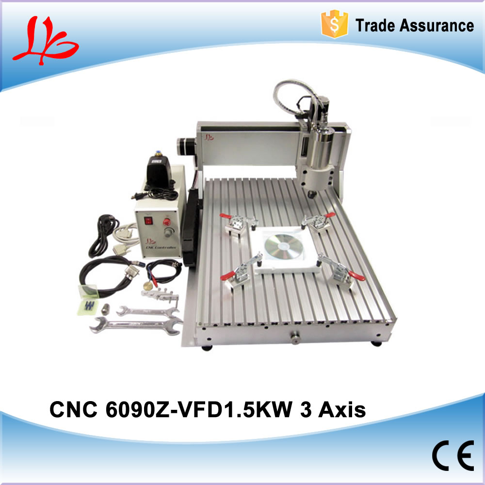 China Woodworking Machine 6090 CNC Router Engraver with Limit Switch and 1.5KW Water Cooling Spindle, 110/220V model 3d cnc machine 6090 woodworking cnc router for sale