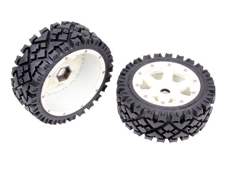 rc car spart part nylon super star front wheel with All Terrain tire set for 1/5 scale HPI Rovan Baja 5B 5b front highway road wheel set ts h95086 x 2pcs for 1 5 baja 5b wholesale and retail