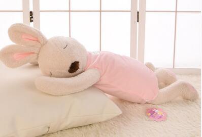 Игрушек! Супер милая плюшевая игрушка прекрасный le sucre кролик папа стиль nap подушка мягкая кукла подарок на день рождения 70 см 1 шт - Цвет: white body