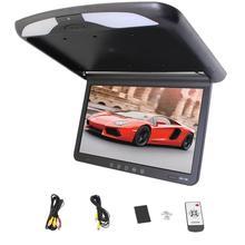 Stylish 15.6″ inch Color TFT LCD Display 12V~24V Roof Mount Car Monitor Flip Down Car Monitor Player + HD 1080P HDMI USB SD FM