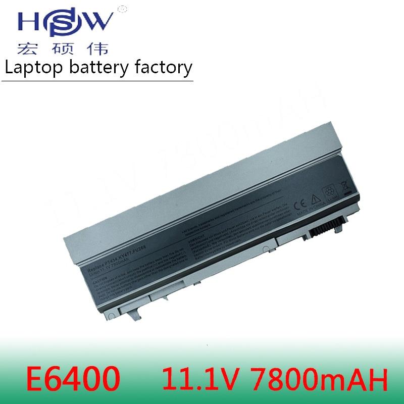 HSW 7800mAh Laptop Battery For Dell Latitude E6400 E6410 E6500 E6510 ForPrecision M2400 M4400 M4500 M6400 M6500 312-0215 Battery