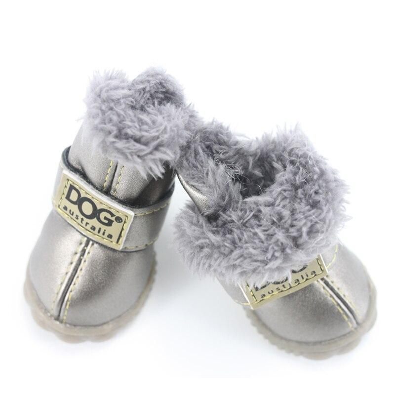 Sepatu Anjing peliharaan Musim Dingin Super Hangat 4 pcs / set Sepatu - Produk hewan peliharaan - Foto 2