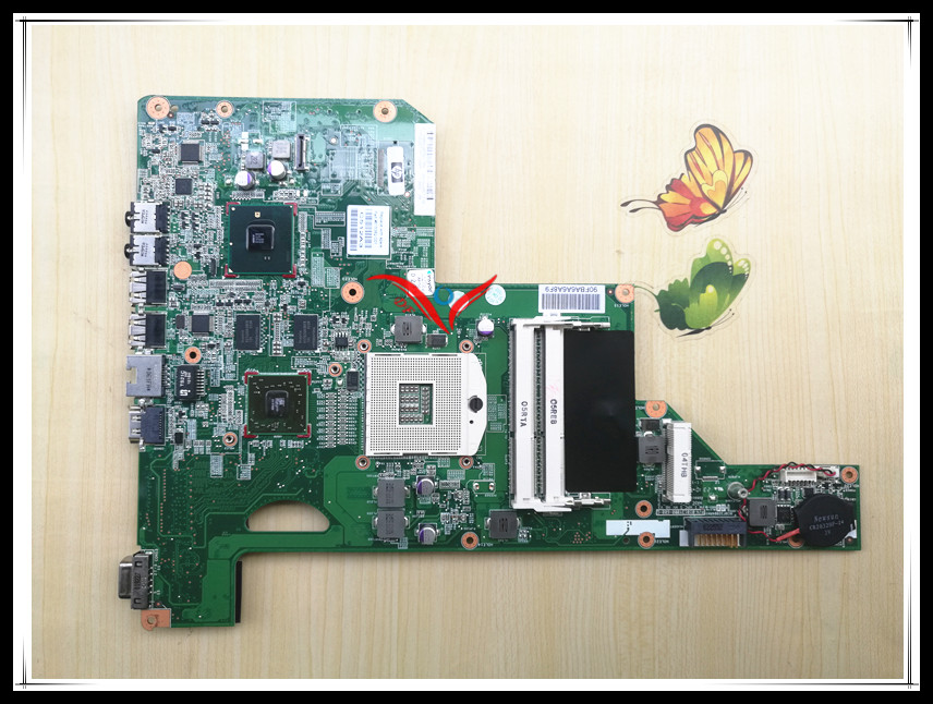 Laptop motherboard 615847-001 615848-001 fit  for HP G62 CQ62 notebook system board,100% working with warranty for hp g62 g72 laptop motherboard with graphics 615848 001 01013y000 388 g