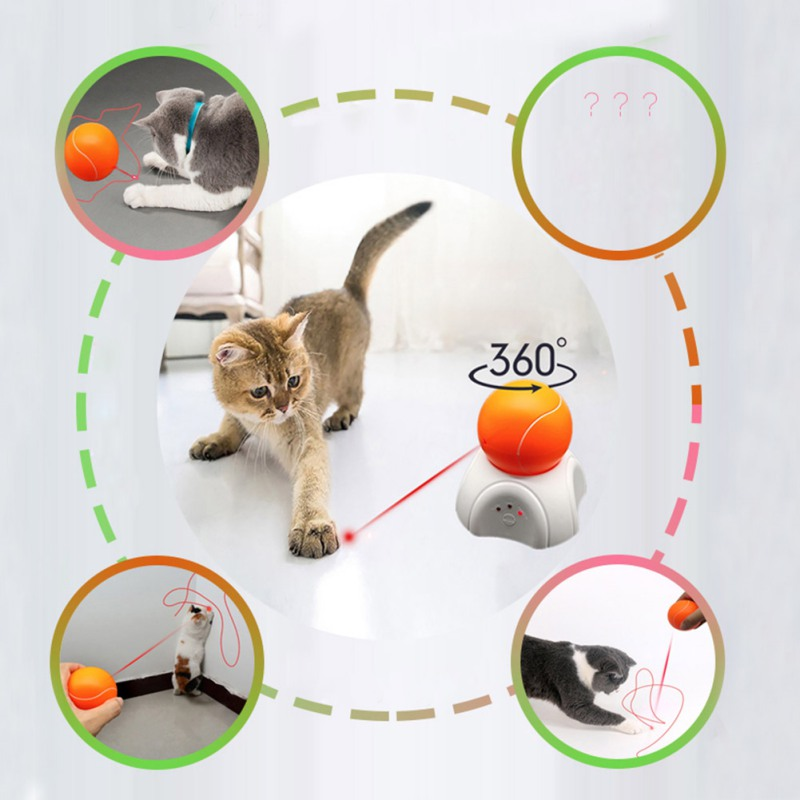 Купить с кэшбэком Pet Interactive Laser Funny Cat Toy Interactive Cat Sports Training Toy Pet Fun Safe Automatic Pointer
