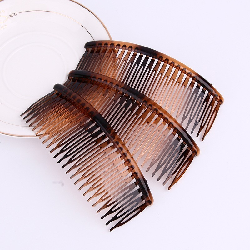 Wholesale 5Pcs/Pack Comb Hair Clip Clamp For Ladies Insert Comb 24 Tooth Hair Comb Hair Ornaments Manual Diy Comb Parts