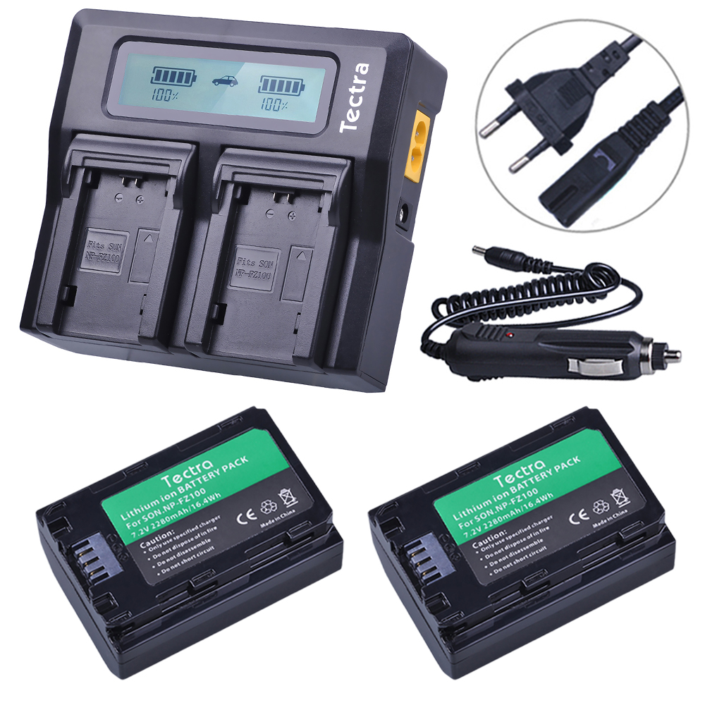 2 pcs NP FZ100 NP-FZ100 NPFZ100 battery+ AC Fast LCD Dual  Charger for Sony ILCE-9, BC-QZ1, a7r3, A7RIII, ILCE-7RM3, A9R, 7RM32 pcs NP FZ100 NP-FZ100 NPFZ100 battery+ AC Fast LCD Dual  Charger for Sony ILCE-9, BC-QZ1, a7r3, A7RIII, ILCE-7RM3, A9R, 7RM3