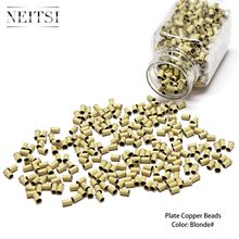 Neisti Hair Extensions Tools 34*30*60 Without Silicone Copper Micro Rings Tubes For Hair Extensions 1000pcs 6 Colors Option(China)