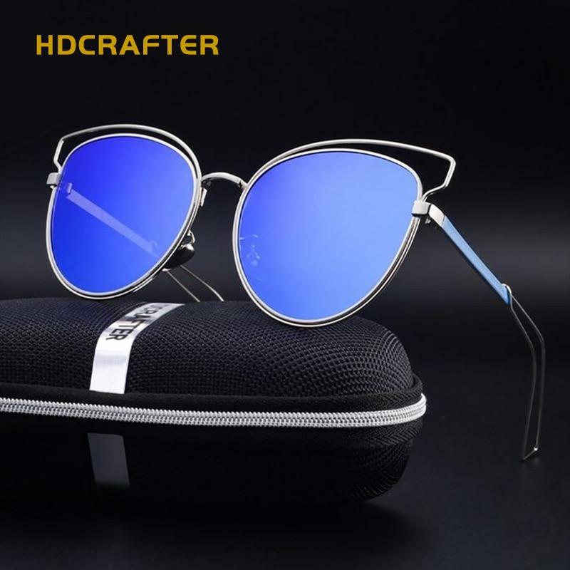 HDCRAFTER 2017 Brand New font b Fashion b font Cat Eye Sunglasses For Women font b