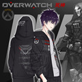OW Over and Watch Reaper Jacket Coat Hoodie Only Cosplay Costume For Adult