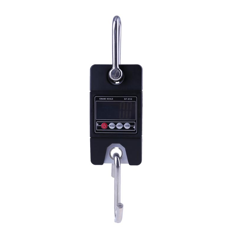 300KG/0.1kg Mini Heavy Duty Electronic LCD Digital Hook Hanging Crane Scale Industrial Weighing Scales LED Back light