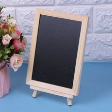 Desktop Message Board Blackboard Wood Tabletop Chalkboard Double Sided Blackboard School Supplies