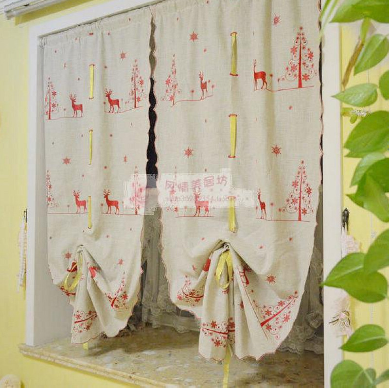 Online Shop ZHH Natural Hemp Curtain Elizabethans Balloon Curtains The  Finished Fashion Curtain Cartoon Cloth Curtain Partition | Aliexpress Mobile