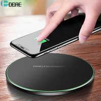 Chargeur sans fil DCAE Qi pour iPhone 11 8 X XR XS Max QC 3.0 10W charge sans fil rapide pour Samsung S9 Note 9 S10 chargeur USB