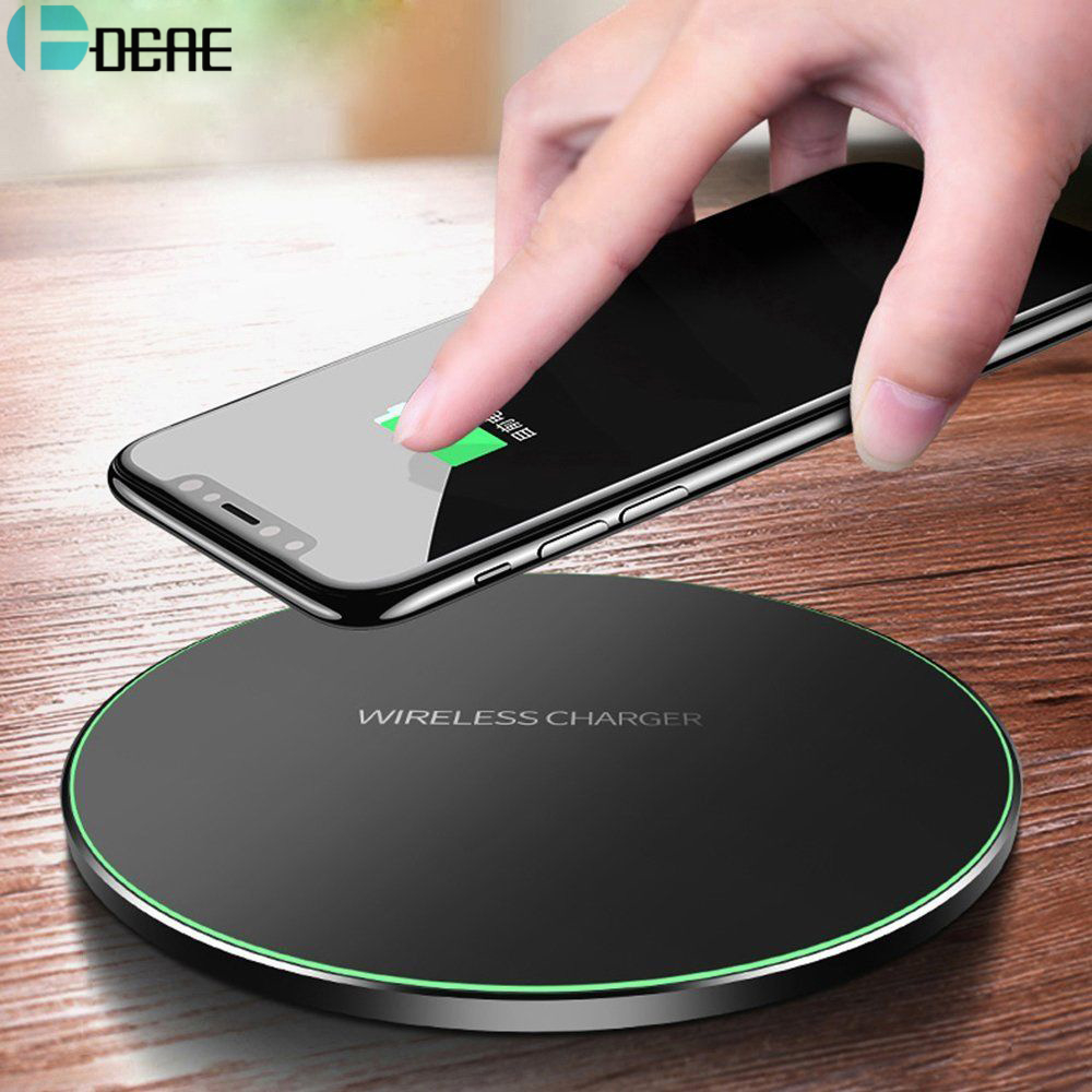 DCAE cargador inalámbrico Qi para iPhone 8/8 Plus/X QC3.0 10 W carga inalámbrica rápida para Samsung s9/S8/S8 +/S7/S6 borde USB cargador Pad
